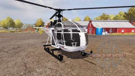 Aerospatiale SE.313B Alouette II v2.0 for Farming Simulator 2013