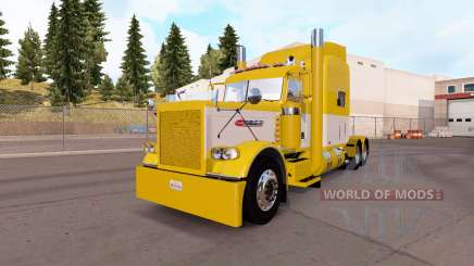 Skin Yellow and White for the truck Peterbilt 389 for American Truck Simulator