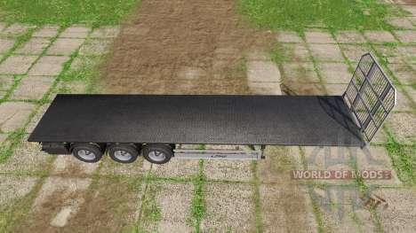 Fliegl flatbed trailer autoload v5.0 for Farming Simulator 2017