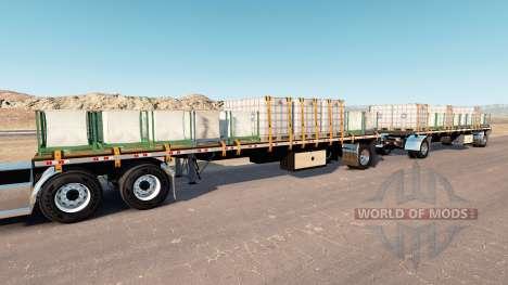 Double trailer for American Truck Simulator