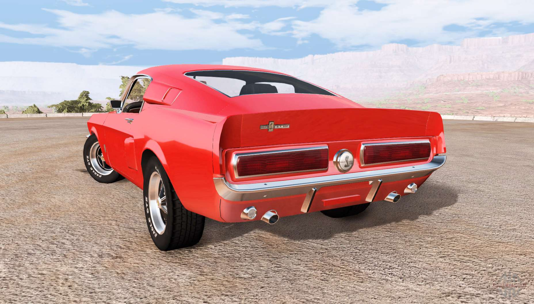 Ford Mustang Shelby Gt500 For Beamng Drive 1969