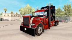 Wood skin for the truck Peterbilt 389