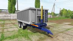 Aluminum trailer for Farming Simulator 2017