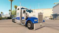The Blue skin and Gray on the truck Kenworth W90