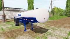 Milk tank semitrailer for Farming Simulator 2017