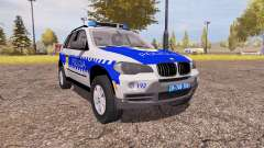 BMW X5 4.8i (E70) serbian police for Farming Simulator 2013