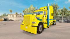 Blue streak skin for the truck Peterbilt 389