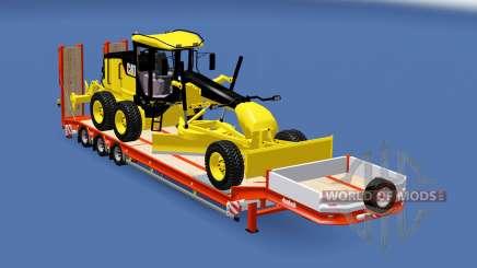 Semitrailer Caterpillar 140M v1.1 for Euro Truck Simulator 2