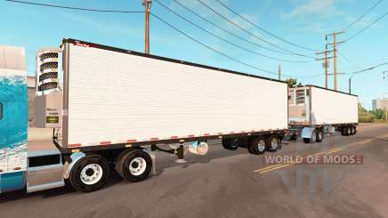 Double refrigerated trailer Great Dane for American Truck Simulator