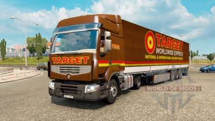 Painted truck traffic pack v2.2.2 for Euro Truck Simulator 2