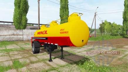Fuel tank semitrailer for Farming Simulator 2017