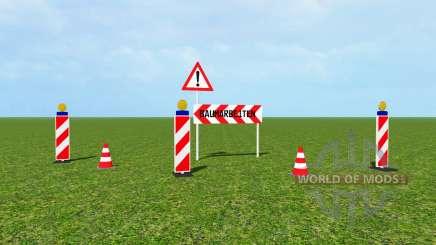 Traffic barrier v1.1 for Farming Simulator 2015