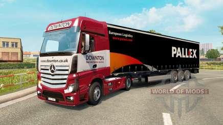 Painted truck traffic pack v2.3 for Euro Truck Simulator 2