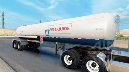 Real company tanker trailers for American Truck Simulator