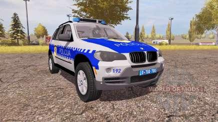 BMW X5 4.8i (E70) serbian police for Farming Simulator 2013