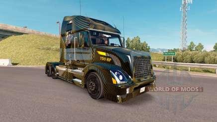 Skin Golden and Black on the truck Volvo VNL 670 for American Truck Simulator