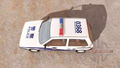 Fiat Uno chinese police for BeamNG Drive