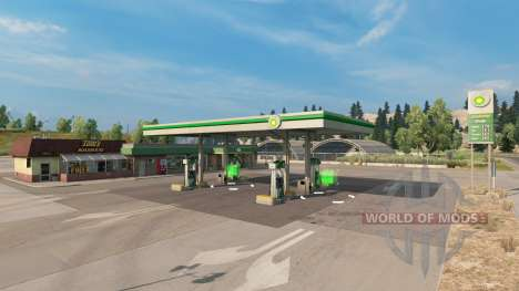 Real gas stations v1.2 for American Truck Simulator