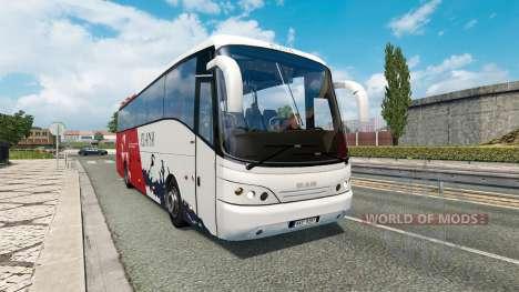 Bus traffic v1.4 for Euro Truck Simulator 2