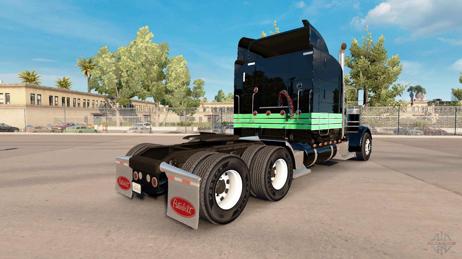 Skin Mint Green And Black For The Truck Peterbilt 389 For American Truck Simulator