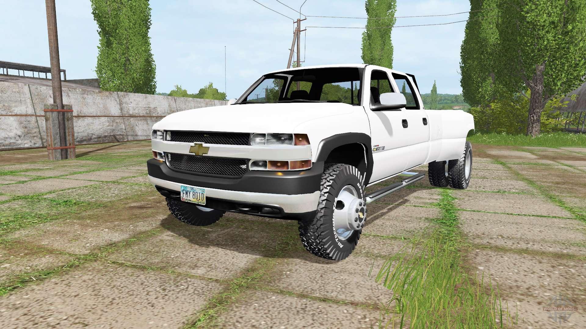 chevrolet silverado 3500 crew cab dually 2001 for farming simulator 2017. Black Bedroom Furniture Sets. Home Design Ideas