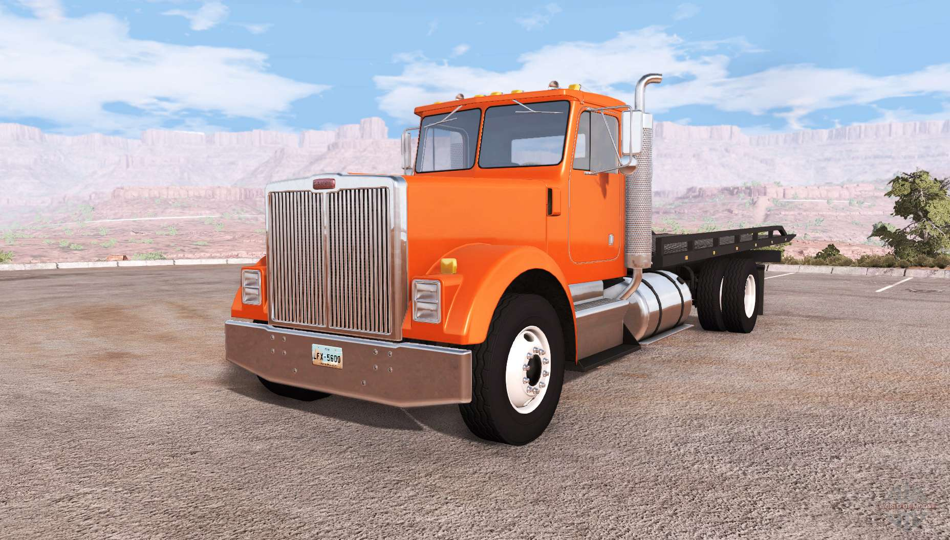 Gavril T Series Rollback Flatbed Tow Truck For Beamng Drive