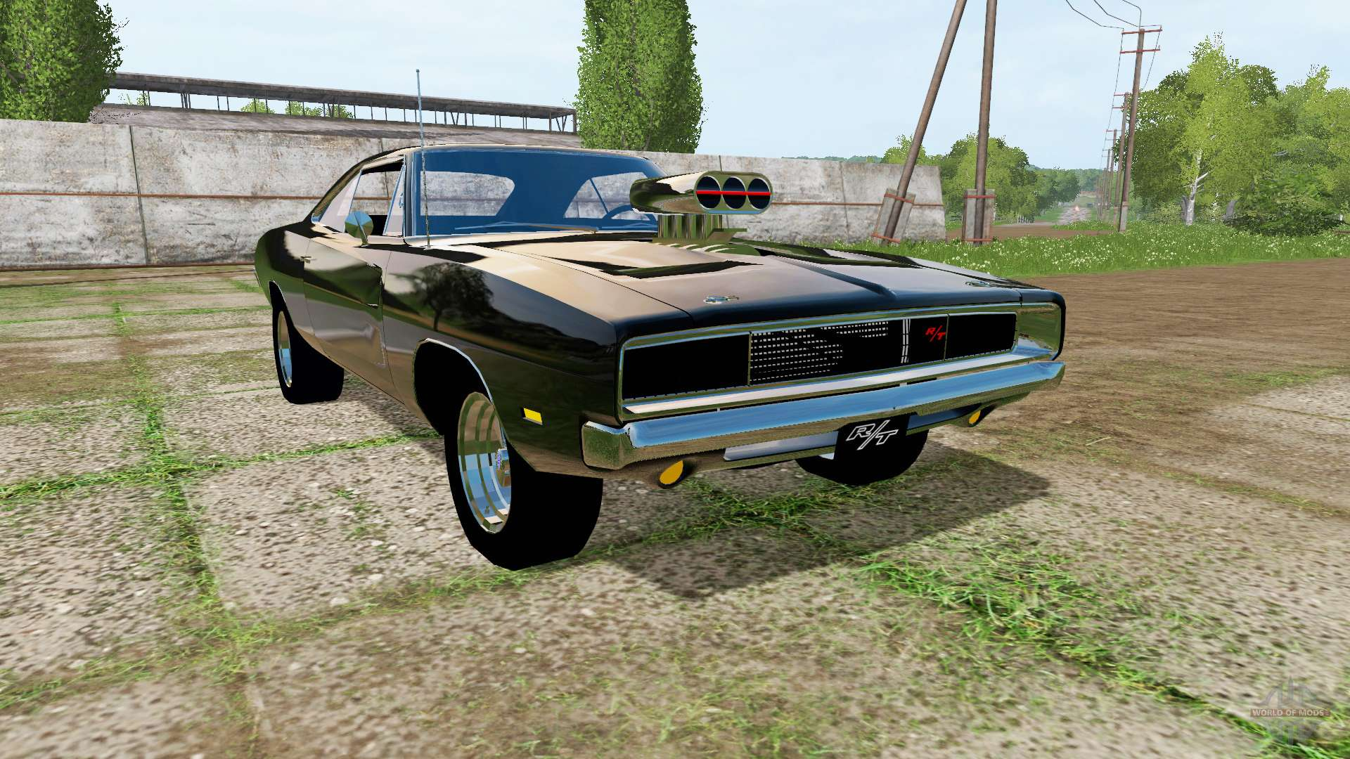 dodge charger rt xs29 1970 for farming simulator 2017. Black Bedroom Furniture Sets. Home Design Ideas