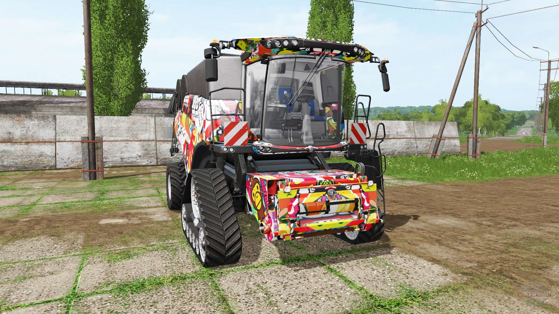 new holland stickerbomb for farming simulator 2017. Black Bedroom Furniture Sets. Home Design Ideas