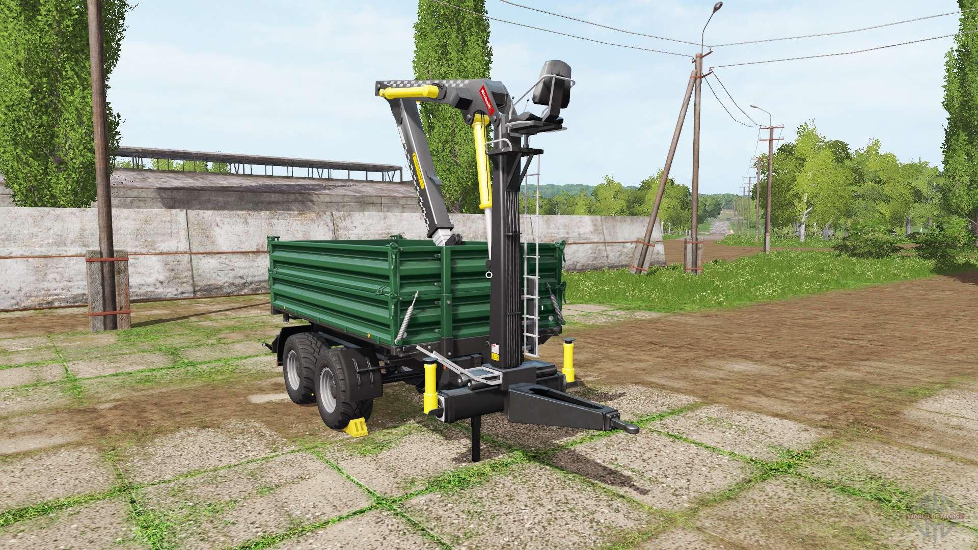 fliegl timber trailer for farming simulator 2017. Black Bedroom Furniture Sets. Home Design Ideas