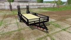 Platform trailer with sides for Farming Simulator 2017