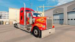 Flame skin for Kenworth W900 tractor