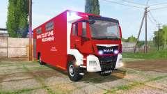 MAN TGS Feuerwehr-Einsatzleitung for Farming Simulator 2017