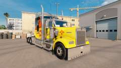 Skin New Mexico on the truck Kenworth W900