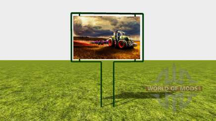 Advertising sign for Farming Simulator 2017