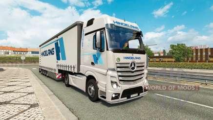 Painted truck traffic pack v2.3.1 for Euro Truck Simulator 2