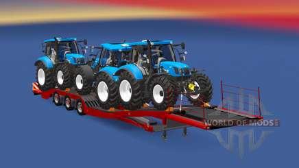 Semitrailer New Holland T6.160 for Euro Truck Simulator 2