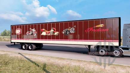 Indian Motorcycles box trailer for American Truck Simulator