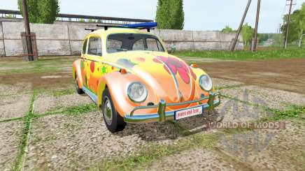 Volkswagen Beetle 1966 peace and love for Farming Simulator 2017