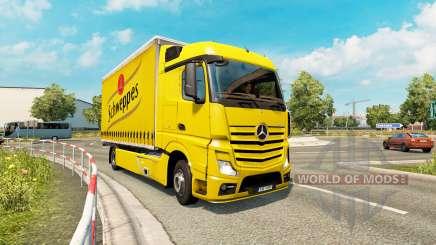 Tandem truck traffic v1.2 for Euro Truck Simulator 2