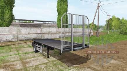 Fliegl short flatbed trailer for Farming Simulator 2017