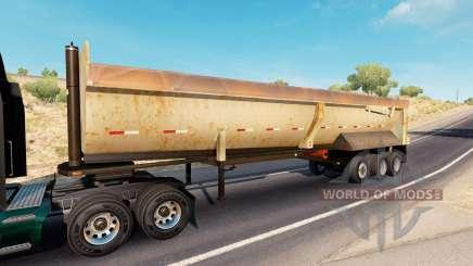 Rusty dumps trailer for American Truck Simulator