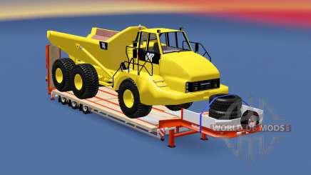 Semitrailer Caterpillar 740 for Euro Truck Simulator 2