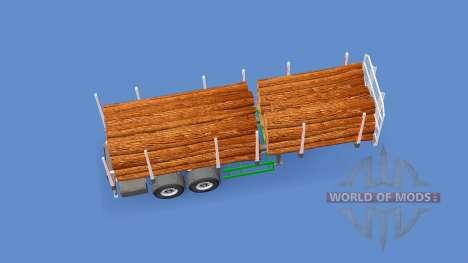 Small log trailer for Euro Truck Simulator 2