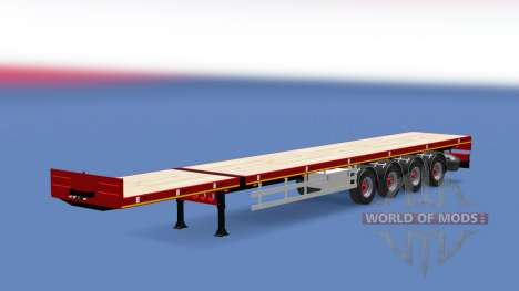 Doll flatbed trailer for Euro Truck Simulator 2