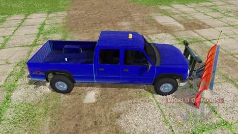 Chevrolet Silverado 2500 HD Crew Cab 2006 plow for Farming Simulator 2017