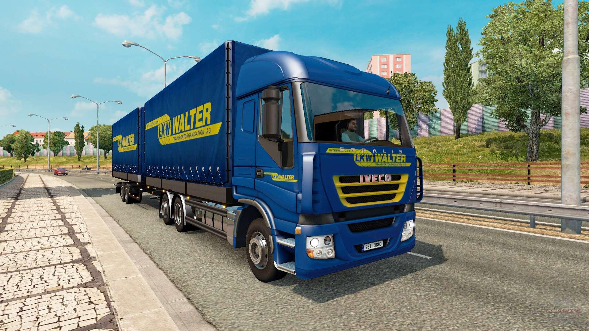 tandem truck traffic v1 3 for euro truck simulator 2. Black Bedroom Furniture Sets. Home Design Ideas