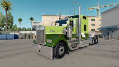 Skin Green on Green on tractor Kenworth W900