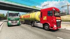 Painted truck traffic pack v2.5 for Euro Truck Simulator 2