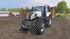 New Holland T8.435 white v1.1 for Farming Simulator 2015
