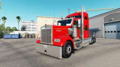 The Skin Red. Gold & Black on the truck Kenworth